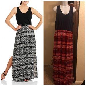 Faded Glory Women's Knit-to-Woven Maxi Dress